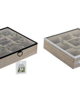 Caja infusiones botanic 24x24x7 cm