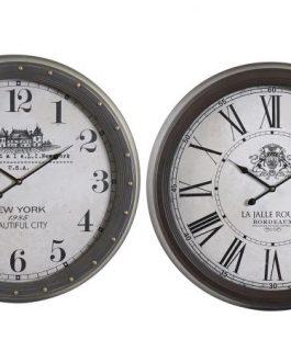 Reloj pared metal cristal 62x6x62 cm