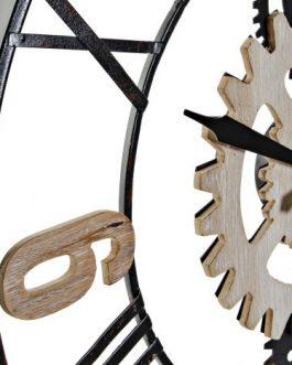 Reloj pared madera/metal 60x5x60cm