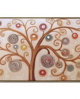 Cuadro «Árbol de  Klimt» con marco 150x70cm