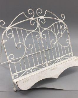Atril metal blanco 29x21x22,5 cm