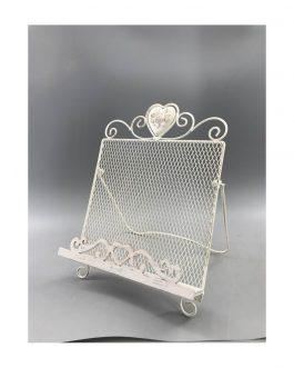 Atril metal blanco 24×23,5×26,5 cm