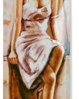 Cuadro  lienzo chica lacado 40×2,50x120cm