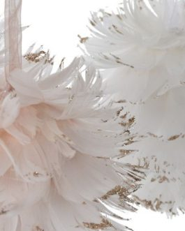 Bola decoración pluma 10×10 cm