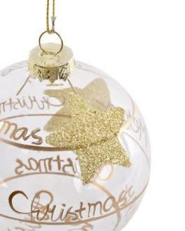 Bola decoración cristal estrella dorada 8×8 cm