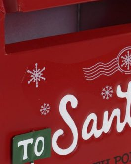 Buzón rojo Papá Noel 20,5×16,5×33,5 cm