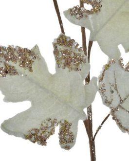 Rama poliester/metal hojas verdes 20x2x69cm