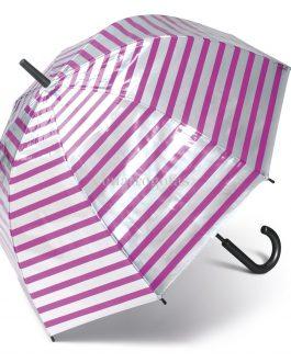 Paraguas transparente metalizado rayas