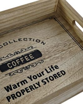 Bandeja «coffee» madera