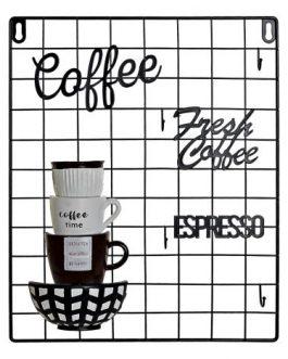 Memo metal/resina «coffee» negro 30x4x38 cm