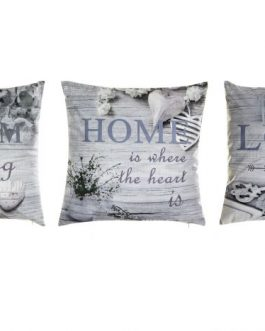 Cojín algodón/lino «Home» 50x10x50 cm