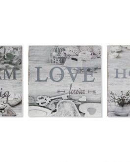 Cuadro madera «Home» 30x3x30 cm