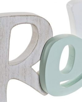 Decoración madera «Relax» multicolor 33x3x14 cm