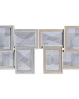 Marco multifoto madera/cristal 46x3x32 cm