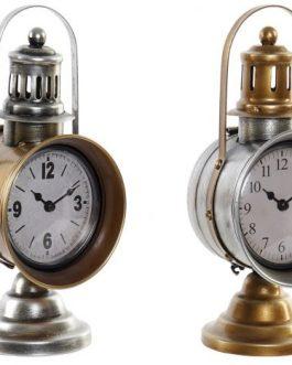 Reloj sobremesa metal/pvc foco 13×17,5×29 cm