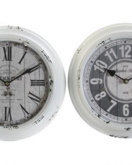 Reloj pared metal/cristal 30x4x30 cm