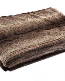 Manta poliester marrón 130×170 cm