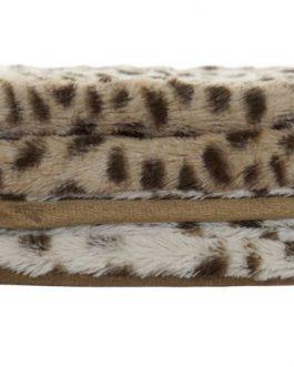 Manta poliester leopardo 150×200 cm