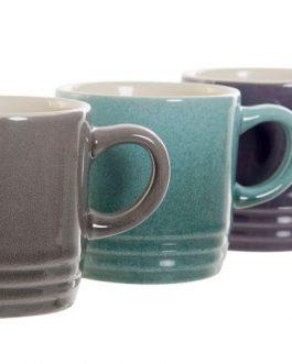 S/6 taza café gres 90 ML.