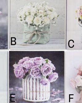 Lienzo flores 28×1,5×28 cm