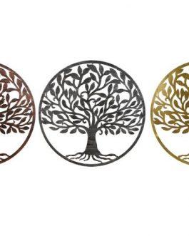 Decoración metal árbol de la vida 40x1x40 cm