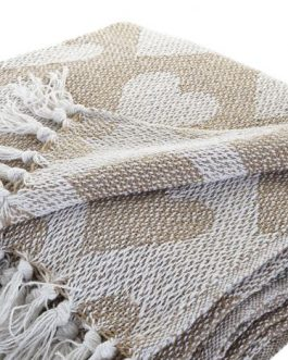plaid algodón corazones 130×170 cm
