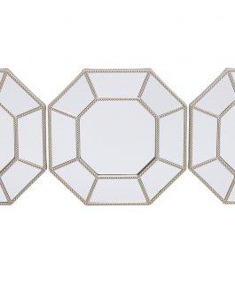 Set 3 espejo 25x2x25 cm