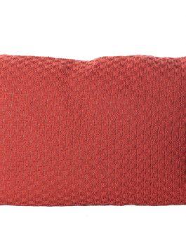 Cojín borlones color teja 60x15x40 cm