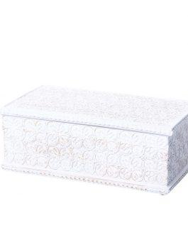 Caja resina blanco envejecido 20x10x8 cm