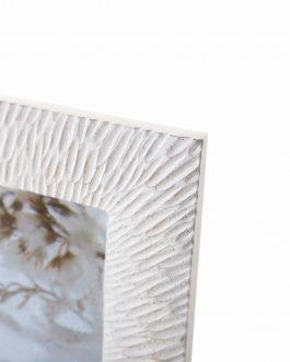 Portafoto resina blanco envejecido, foto 10×15 cm