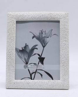 Portafoto resina blanco envejecido, foto 15×20 cm