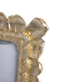 Portafoto resina dorado, foto 10×15 cm