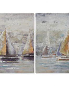 Lienzo veleros 60×1,5×60 cm
