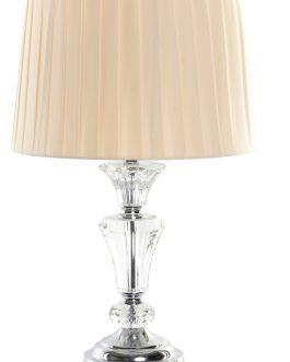 Lámpara sobremesa metal/cristal 30x30x48 cm