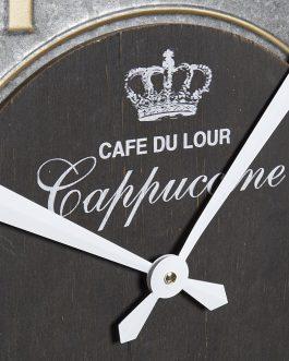 Reloj pared madera/metal 60×7,5×60 cm