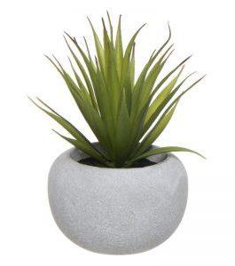 Cactus artificial maceta cemento 18x10x10 cm