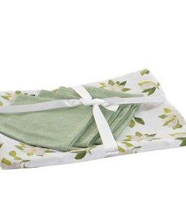 Mantel con 4 servicios algodón «Magnolio» 154×154 cm
