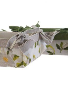 Cesta algodón «Magnolio» 30x30x9 cm