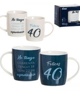 Mug «Felices 40» 350 ML.
