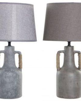Lámpara sobremesa porcelana con asa 28x28x50 cm