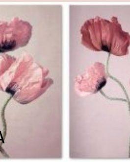 Lienzo flores 30×40 cm