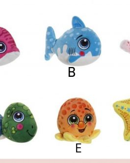 Peluche poliester animales marinos 14x9x14 cm