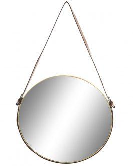 Espejo metal/PU dorado 50x2x80 cm