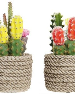 Cactus artificial en maceta 9,5x9x18 cm
