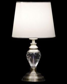 Lámpara sobremesa cristal 23x23x42 cm