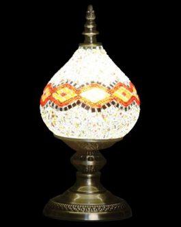 Lámpara sobremesa metal/cristal 18x18x38 cm