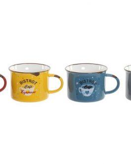 Set 4 mug 180 Ml. «Bistrot» 17x17x9,5 cm