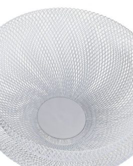 Frutero metal blanco 30x30x15 cm