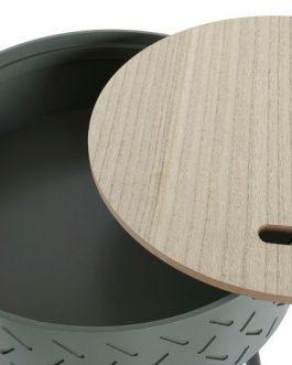 Mesa auxiliar almacenaje 38,5×38,5×45,5 cm