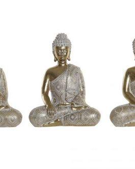 Figura resina Buda decapé14,5×8,5×18 cm